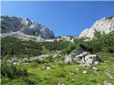 Krnička gora iz Matkove KrniceObvezen počitek pri stanu