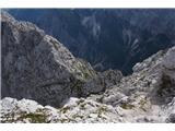 Prečenje Via de la Vita - Vevnica - Strug - PonceZ Vevnice se je potrebno spustiti proti spodnjem grebenu