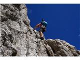 Prečenje Via de la Vita - Vevnica - Strug - PonceKončni sestop iz Vevnice