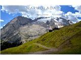 DolomitiMarmolada in njeni vrhovi