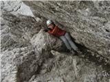 Grintovec in Kočnaše drugo plazenje v trebušastem prehodu