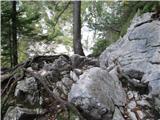 Slovenski slapovi vodotokov Pot je kar zahtevna.
