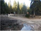Stegovnikna ravnici in cesti pod planino Javornik