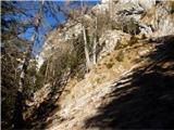 Stegovnikpod zahodnim grebenom Štegovnika