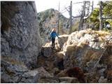 Stegovniksestop po vzhodnem grebenu ima nekaj težjih mest, a je lažji od zahodnega
