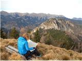 StegovnikMali Javornik na vrhu, iz njega so prav tako čudoviti razgledi