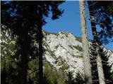 Pristovški Storžičlepo se vidi vrh s križem