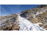 KomnaIzrazite razmere - na sončnih straneh je sneg le na poteh.