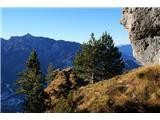 Monte PisimoniPot je ponekod izpostavljena, a prehodi so lepi in neproblematični
