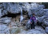 Monte PisimoniGloboko v bukovem gozdu se odcepi pot 424 ki vodi po soteski Rio Simon