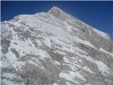 Jalovecpogled iz njega (2480m) proti Jalovcu