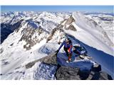 Hochalmspitze 3360 mNa vršnem grebenu