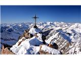 Hochalmspitze 3360 mKriž na vrhu 3360m