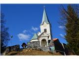 Znamenja (križi in kapelice) na planinskih potehCervica v vasici Gore.