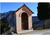 Znamenja (križi in kapelice) na planinskih potehŠe ena kapela na poti.