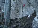 Bočzačetek plezalne poti
