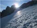 BegunjščicaSuper pomrznjen sneg danes