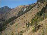 Kamniški vrhprijetna in razgledna prečna pot pod Kamniškim vrhom, ki te pripelje pod Rožo, ona druga je višje