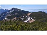 Storžič Pogled na Sr. vrh z M. Grintovca