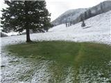Velika planinaOčitno je med sneženjem pihalo.