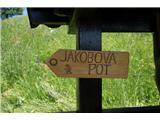 Jakobova pot  - Višarska smerOznake za jakobovo pot so raznolike, običajno so rumene barve