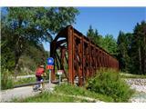 Jakobova pot  - Višarska smerBivši železniški most čez Savo