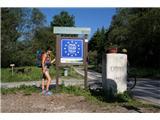 Jakobova pot  - Višarska smerIn tukaj sva prestopila mejo. Državno seveda in nihče naju ni povohal :)