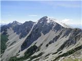 VajnežPogled proti Stolu, na severni strani (plezalna pot) snega ni več