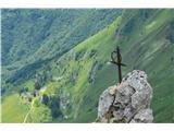 Znamenja (križi in kapelice) na planinskih potehBolj železje kot križec.