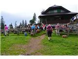 Slovenske planine v vseh letnih časihNa planini imajo veliko obiska celo poletje.