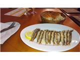 Slavnik - 1028 mMalo po morske dobrote, sveže sardele na žaru, g. Bujol Izola