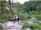 Grintovec in Kočnastrma in zahtevna pot čez Taško