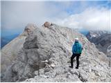 Grintovec in Kočnana Kokrski Kočni - pogled naprej proti Jezerski