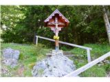 Znamenja (križi in kapelice) na planinskih potehta je bil že na štartu na nasedlu Šajda.