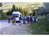 Špik nad nosom (Foronon del Buinz)Štart na planini Pekol s PD Škofja Loka, da naredim malo reklame za društvo.