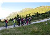 Špik nad nosom (Foronon del Buinz)Atrakcija že na pašniku na planini Pekol-gledamo svisca.