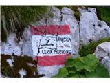 Špik nad nosom (Foronon del Buinz)Tu pot zavije desno na pot Ceria-Merlone.
