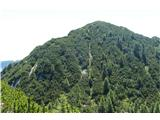 Trupejevo poldne - Vošcapogled na sosednjo goro  - Lepi vrh (Bele peči) z vmesnega grebena