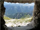 Viš - SZ deberNadzor nad pobočjem s stezico proti planini Krni dol.