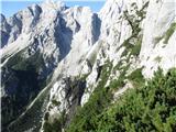 Mrzla gorana vrhu pomola z rušjem, pogled proti Turski