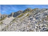 Veliki Pelcproti vršnemu grebenu med Pelcoma