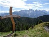 Trupejevo poldne - Vošcaz vrha proti vrhovom Martuljka