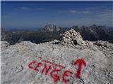 Visoki Kaninposprejana pot Via della Cenge, je kdo že hodil po njej?