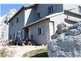 Bovški GamsovecPogačnikov dom-poslavljamo se do naslednjega leta.Dober štrudel imajo.Celo žganc eso kuhali.