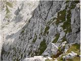 Žrd (2324m)tam spodaj pod potjo se je celo prikazal gams
