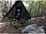 Kobariški Stoldober km po planinski poti je treba iz kolesa razsedlati