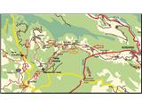 Breginjski kot & Nadižazemljevid prevožene poti