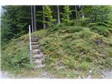 Slovenske planine v vseh letnih časihStopničke na razgledišče na katerega sem naletel.