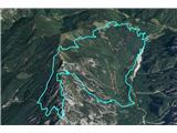 Krofička čez UtePrehojena pot, dolga 21 km in 1750 višincev