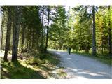 Belopeška jezera - Rifugio Zacchi prijetna pot na začetku
